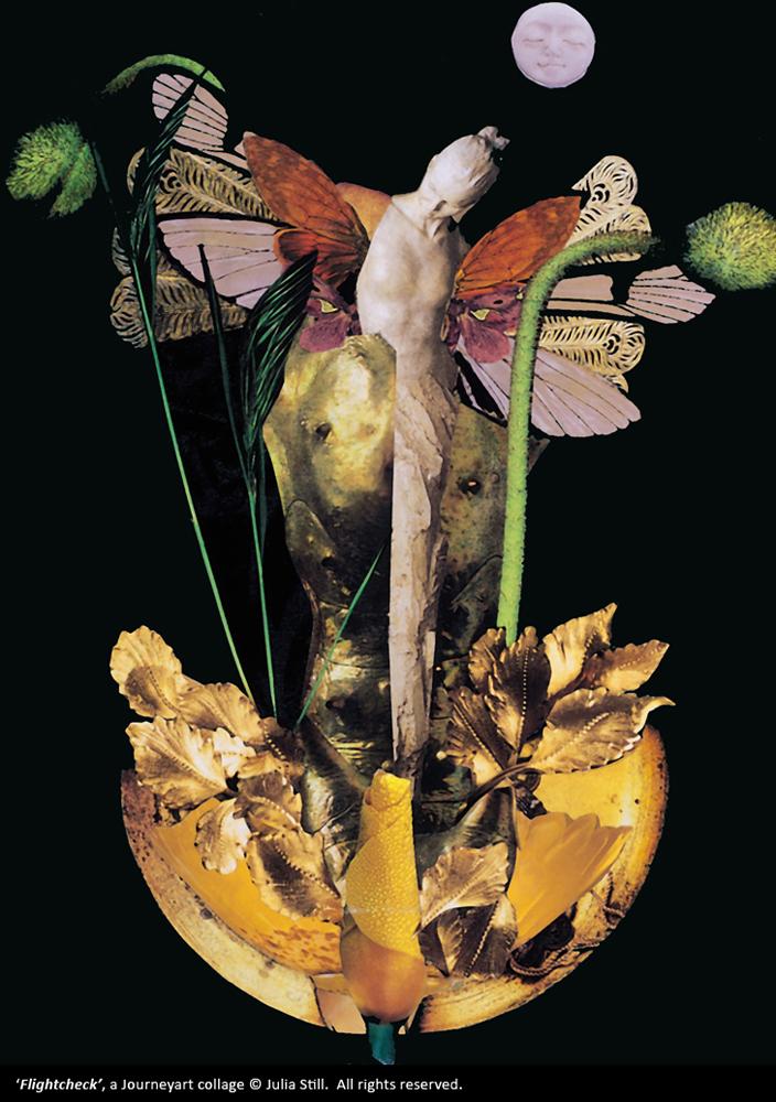 Flightcheck, a Journeyart collage (c) Julia Still